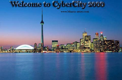 CyberCity 2000 is you place on the internet. Providing links to art, music and cuture. We provide links to research facilities around the globe. Science, history, and government information are only a click away. Please visit us often as we are constantly adding new and interesting content to CyberCity 2000. And as always, please don't hesitate to drop us a line and let us know what you would like to see next. Your wants and needs are always our main concern. CyberCity 2000 is your place on the internet. Help us to make it grow.