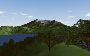 3D rendering of Mt St Helens, washington