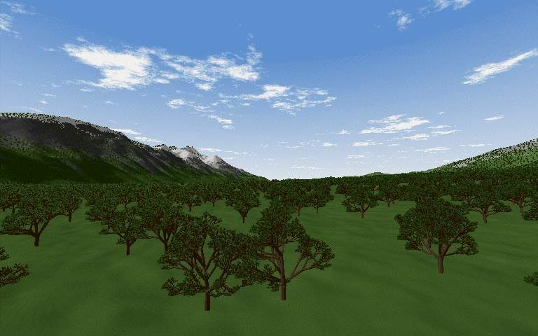 3D rendering of a valley